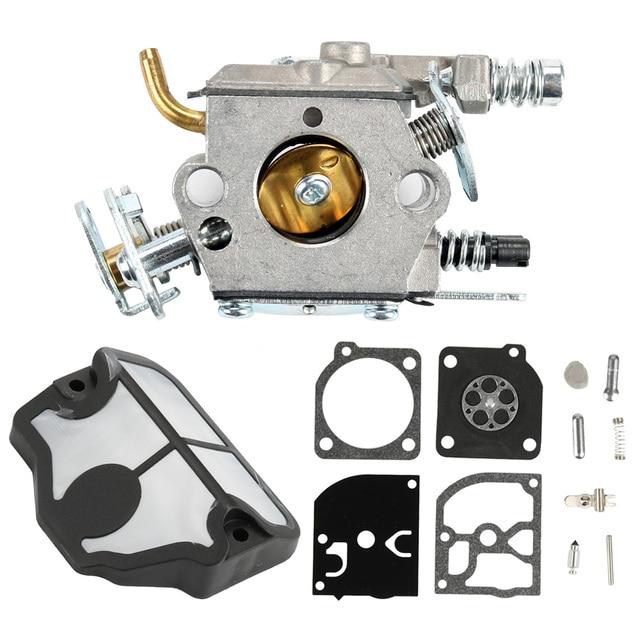 Carburetor Air Filter Rebuild Repair Kit For 36 41 136 137 141 142 530071987, 530035482 Chainsaw Zama C1Q-W29E