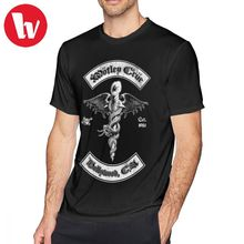 Motley Crue T Shirt DR Feelgood Back T-Shirt Fun Man Tee Streetwear Print Short Sleeves Oversize Cotton Tshirt