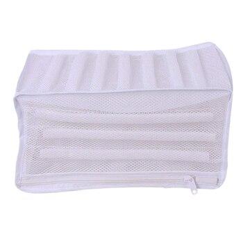 00d720f20 Blanco acolchado de lavandería de malla bolsa de la cremallera de alta  calidad almacenamiento pesado para los hombres zapatillas zapatos en la  lavadora ...