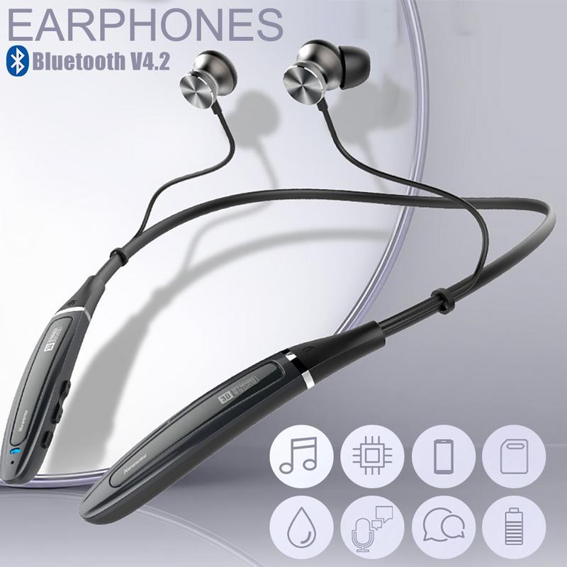 Newsmy Q11 sans fil Bluetooth écouteurs dans l'oreille cou suspendus casque 8G MP3 lecteur en cours d'exécution casque stéréo étanche écouteurs