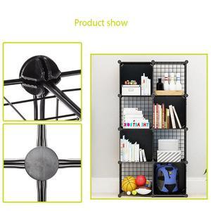 Image 4 - Multifunctional Black Metal 35x35cm Mesh Combination Storage DIY Cube Wardrobe And Modular Shelf Net Wire Mesh Shelf And Shelf