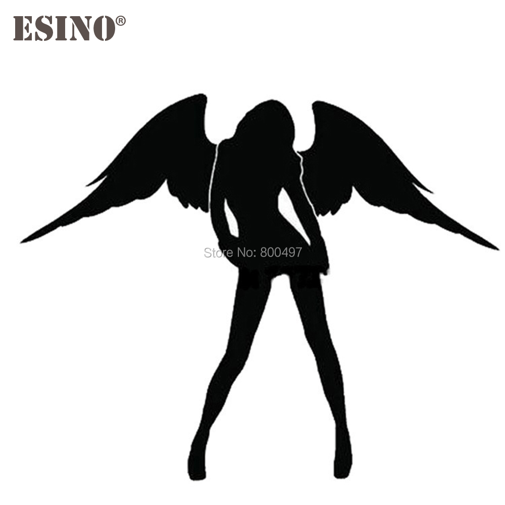 New Angel And Evil <font><b>Sexy</b></font> Girl Car Creative <font><b>Accessory</b></font> Decal Cartoon Car Reflective Sticker Body Decal Creative Pattern Vinyl image