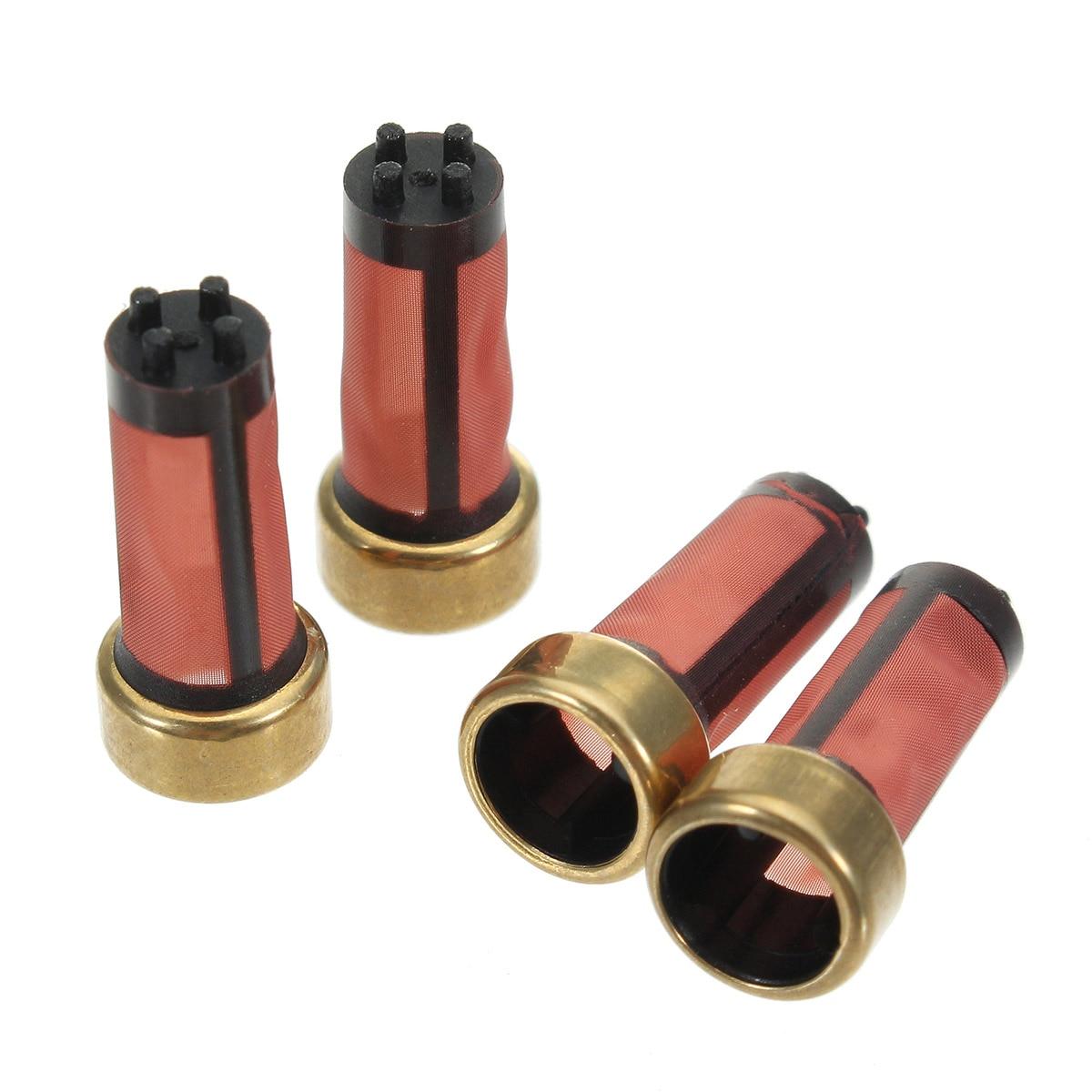 100Pcs 14x6x3mm Auto Car Petrol Fuel Injector Micro Filter AY-F108B Car Sapre Parts MD619962
