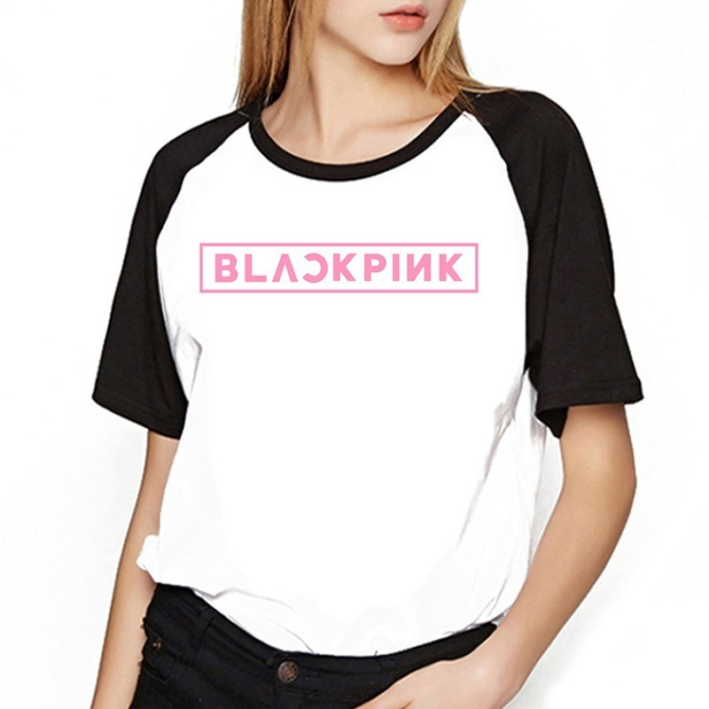 Women's Clothing Vagrovsy Women Splicing Tshirt 2018 Summer Fashion Kpop Blackpink O Neck Loose Top Teeblack Pink Fans T Shirt Plus Size