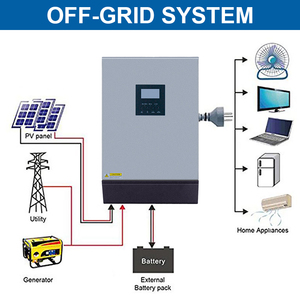 Image 2 - 5KVA 태양 하이브리드 인버터 순수 사인파 220VAC 출력 60A AC 충전기와 내장 PWM 48V 50A 태양 광 충전 컨트롤러