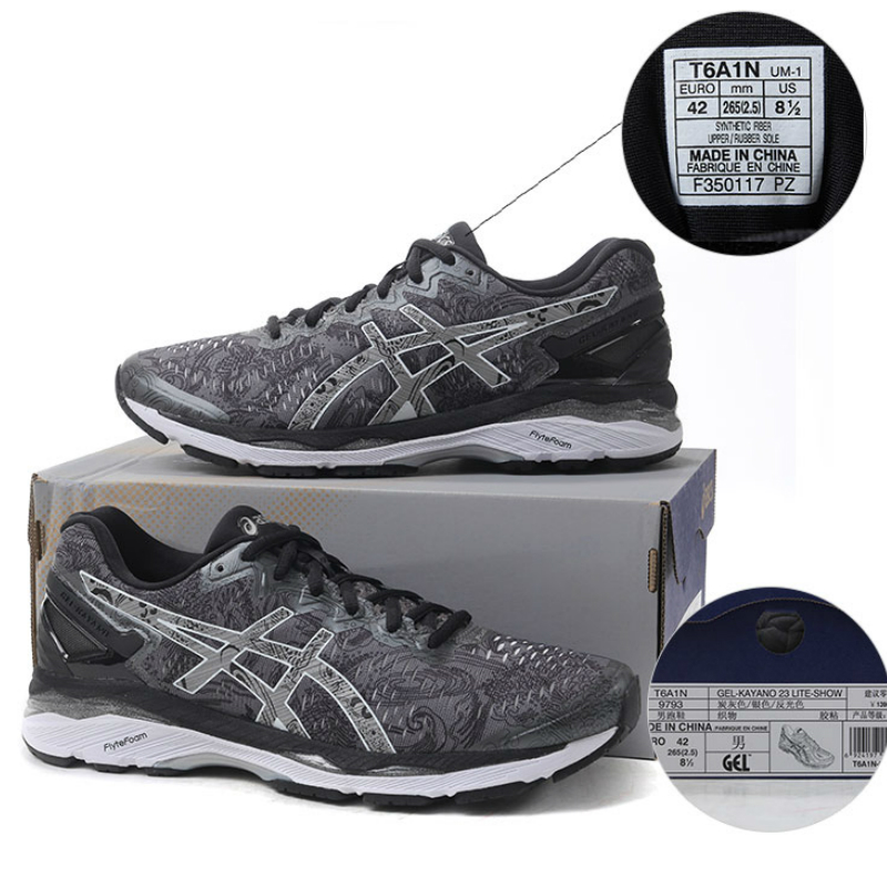 online store ccb2c 6c051 US $235.68 30% OFF|Original ASICS GEL KAYANO 23 Men's Light Running  Stability Cushioning Shoes Sports Outdoor Walking Jogging Sneakers T6A1N  9793-in ...