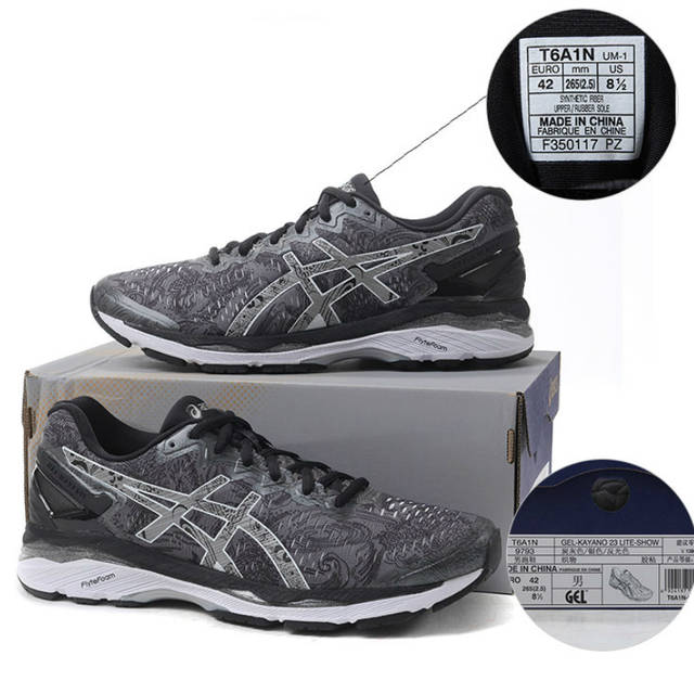 online store 0bb66 9e1aa US $235.68 30% OFF|Original ASICS GEL KAYANO 23 Men's Light Running  Stability Cushioning Shoes Sports Outdoor Walking Jogging Sneakers T6A1N  9793-in ...