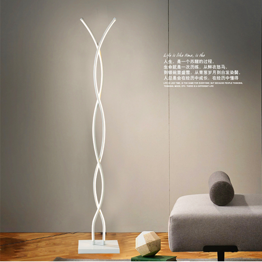 Modern LED Floor Lamps Iron LED Floor Lights Rotating Dimming Switch Bedroom Living Room Standing Lamps Standing Lights Decor Floor Lamps     - title=