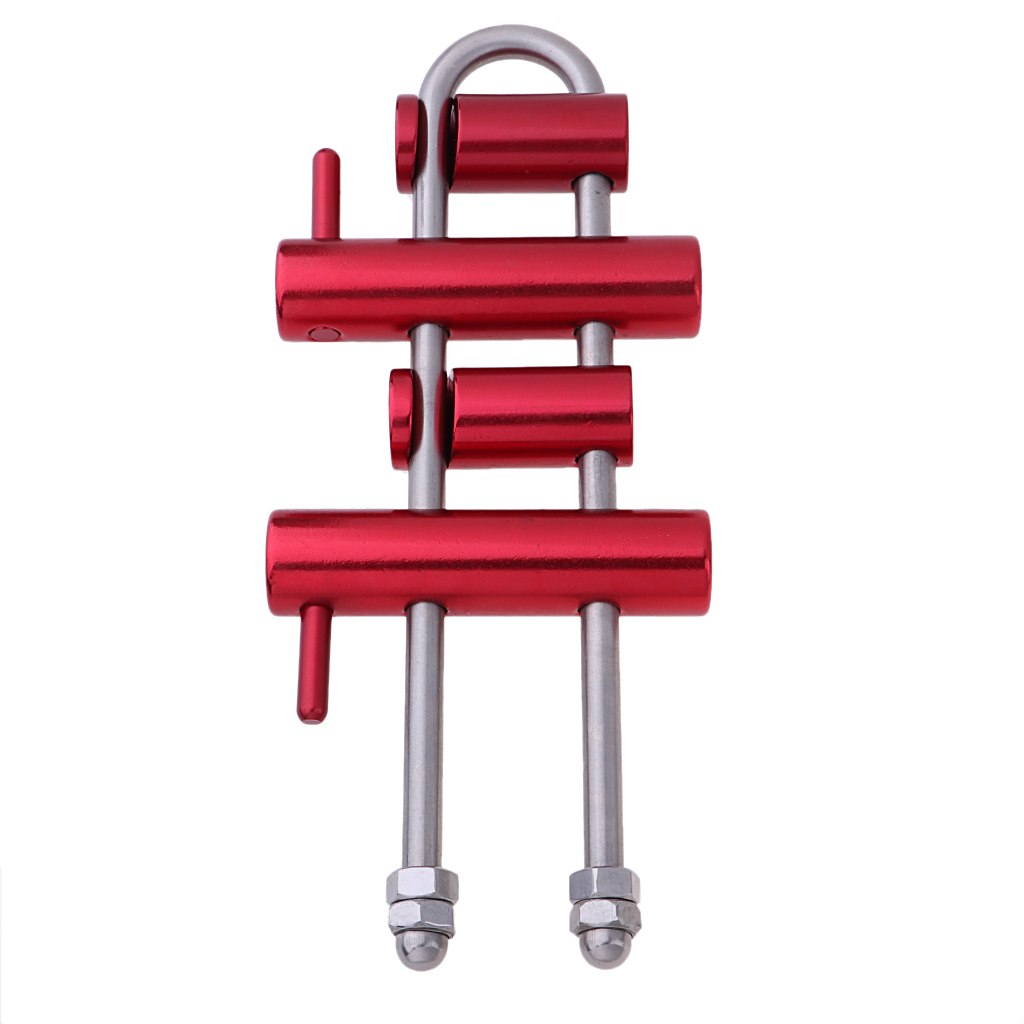 Rack Descender with 4 Bar for Climbing Arborist Aerial Working Rappelling-in Climbing Accessories from Sports & Entertainment    1