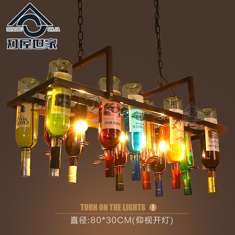 Creative Bottle Personalized Artistic Designer Pendant Lamp Loft Bar Restaurant Cafe Bar Living Room DecorativeCreative Bottle Personalized Artistic Designer Pendant Lamp Loft Bar Restaurant Cafe Bar Living Room Decorative