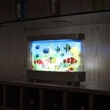 Поддельная рыба движущаяся картина ламповый аквариум лампа движения рыбы ночник настольные аквариума башня гостиная океан аквариум