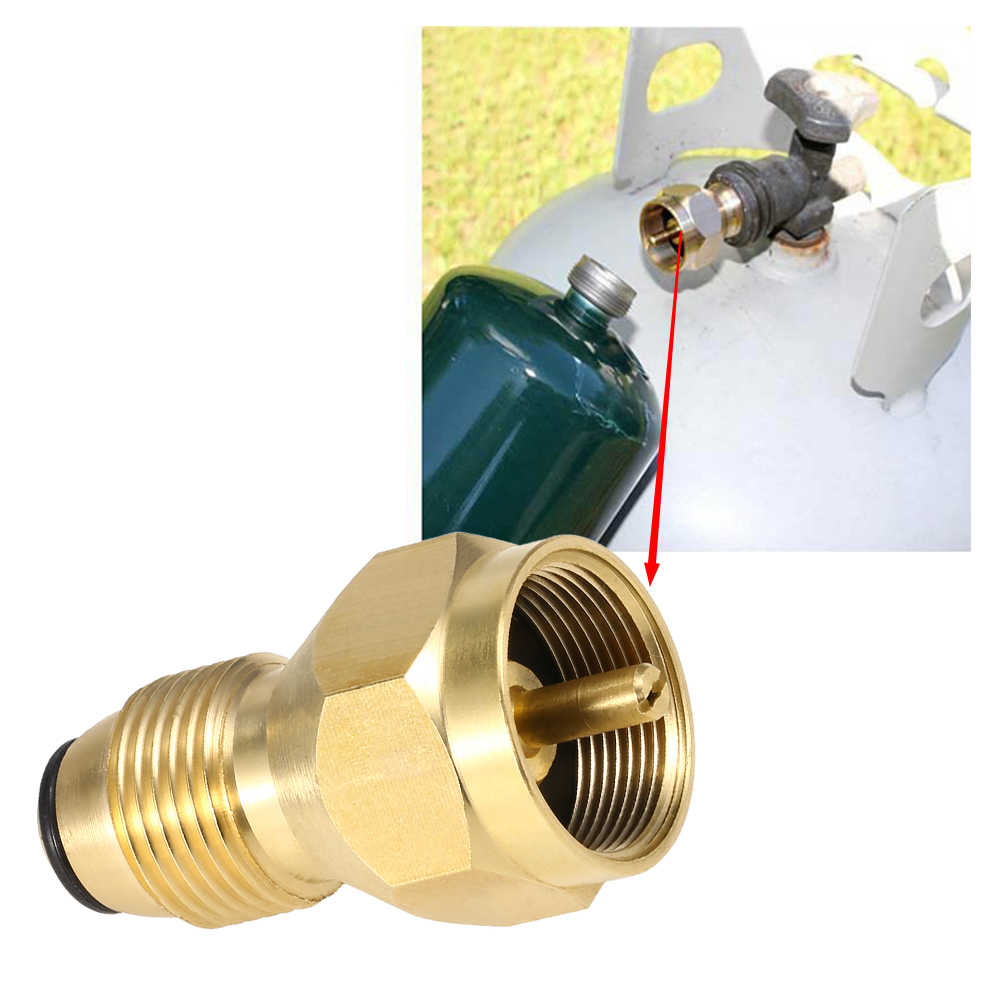 Lixada POL Adapter Propane Refill Adapter Solid Brass Regulator Valve LPG Tank Refill Canister Fill Coupler for 1LB Cylinders