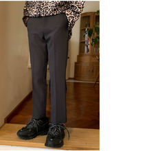 Men's Trousers 2019 Four Seasons Apply New Loose Solid Color Straight Nine Pants Pants Casual Pants Youth Men's Clothing