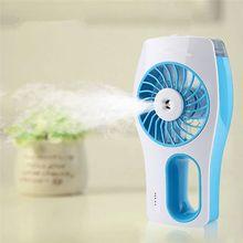 купить Mini USB Handheld Beauty Moisturizing Fan with Cooling Spray Humidifier Rechargeable and Portable 3 Modes Humidifier Fan дешево