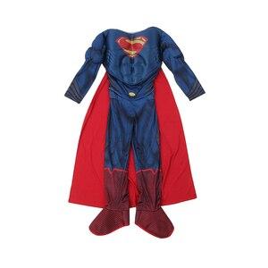 Image 3 - Di alta Qualità Per Bambini Superman Cosplay Costume di Halloween Per I Bambini