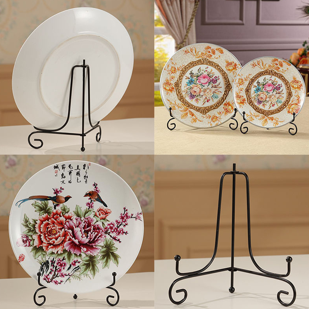 Decorative Plate Holder Display Stand Easel Picture Frame Pedestal Ornament Home Décor Home Garden