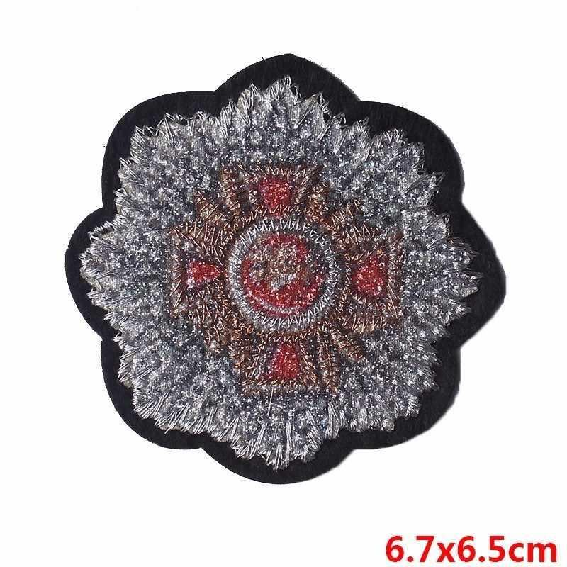 Pulaqi ברק צבאי תיקוני רקום תפירה על תפאורה עבור T-חולצת ג 'ינס בגדי בגד אביזרי מורל תיקוני צבא H