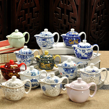 china Jingdezhen Ceramic Drinking Cup Blue And White Porcelain Soaking Pot Kung Fu Tea Accessories Household Teapot