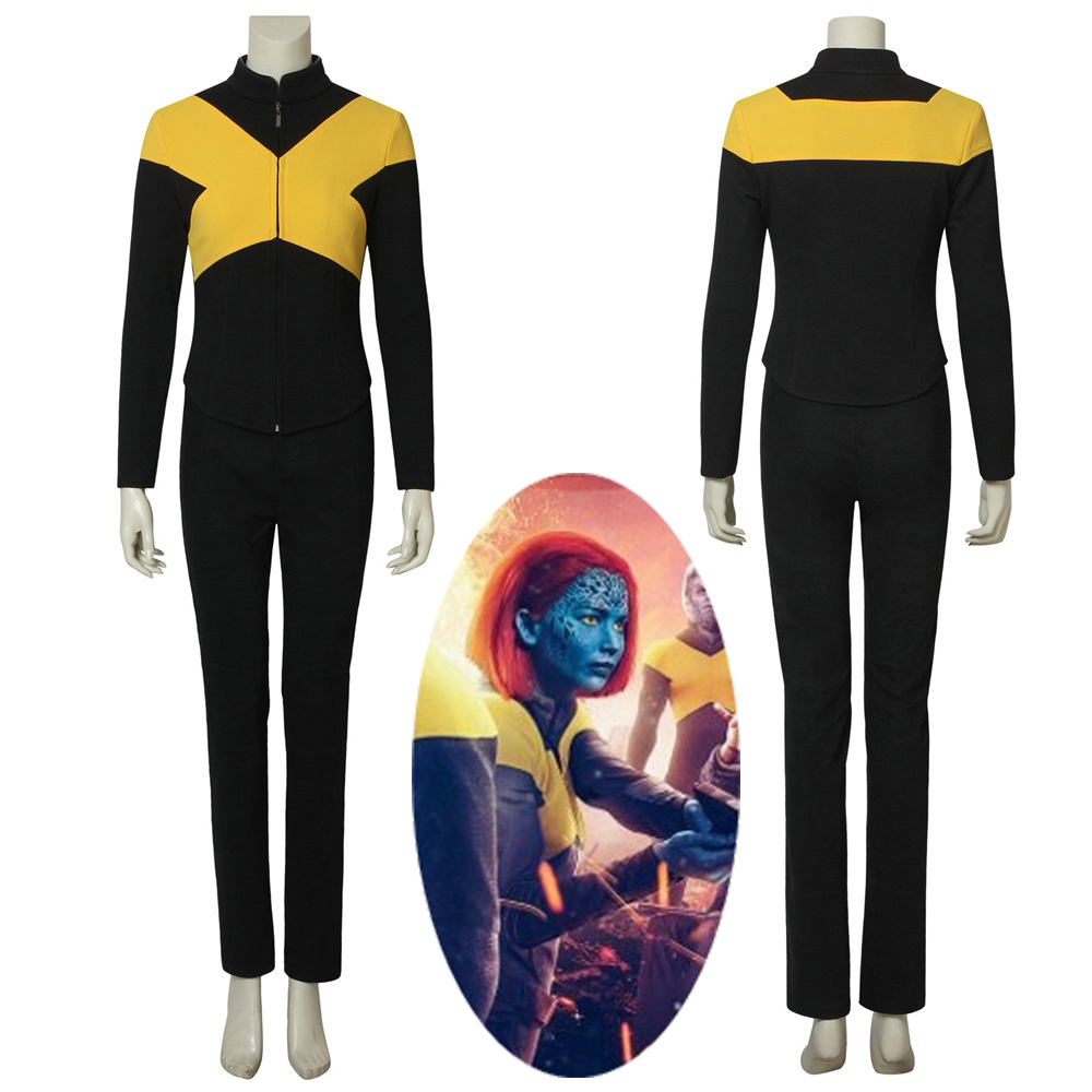 X-Men Dark Phoenix Mystique Raven Darkholme Cosplay Costume Women's Halloween Outfit