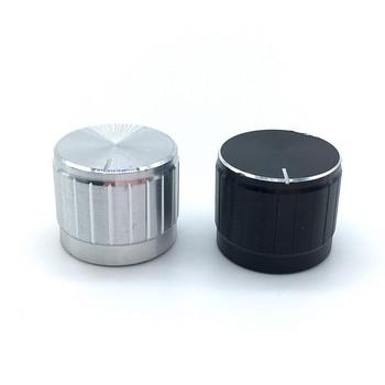 5 sztuk czarny srebrny stop Aluminium przełącznik czapki 21x17mm pokrętła potencjometru przełącznik enkodera wałek Plum oś D wału tanie i dobre opinie Aluminium Alloy