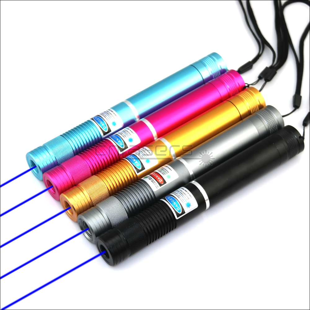 CNILasers BX4 Adjustable Focus <font><b>450nm</b></font> BURNING <font><b>Blue</b></font> <font><b>Laser</b></font> <font><b>Pointer</b></font> Lazer Torch Pen Cigarette Lighter Camping Signal Lamp Hunting image