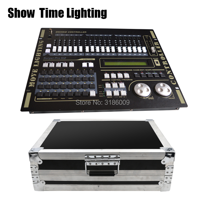 Hot sale Professional 512 DMX Controller flycase Stage light DMX512 Master console flight box use for led par beam moving head in Stage Lighting Effect from Lights Lighting