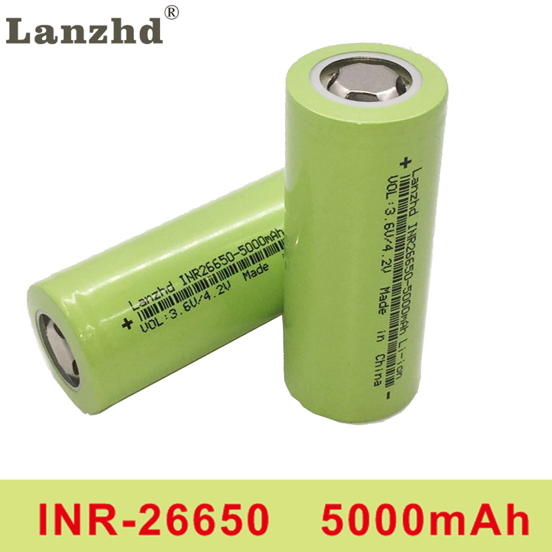 2PCS 2020 NEW li 50A 26650 5000mah lithium battery 3.7V 5000mAh 26650 rechargeable battery 26650-50A suitable for flashligh NEW