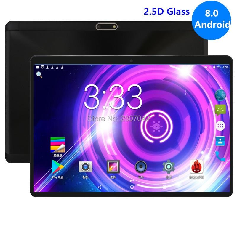 10 Inch Android 8.0 Tablet 4GB RAM 64GB ROM Phablet Octa Core Unlocked 3G 4G FDD LTE Dual SIM Cards 1280x800 2.5D Google Play