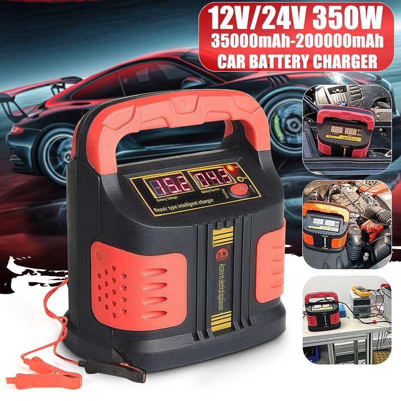 350W 12 V/24 V 200Ah Portátil Carro Elétrico Carregador De Emergência Impulsionador Inteligente P ulse Reparação Tipo ABS LCD de Carga Da Bateria