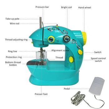 Elektrische Nähmaschine   Elektrische Kinder Tragbare Miniatur Presente Nähen Maschine Ohne Bord Mini Multi-funktion Haushalt Nähmaschine