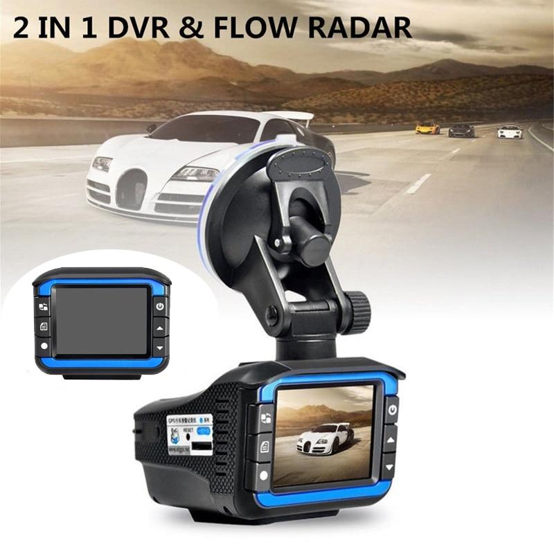 2in1 Multifunction LCD Car DVR Dash Recorder Radar Laser Speed Camera Detector