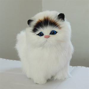 Image 3 - 2019 Lovely Electric Simulation Stuffed Plush Cats Toys Soft Sounding Cute Plush Cat Doll Toys for Kids