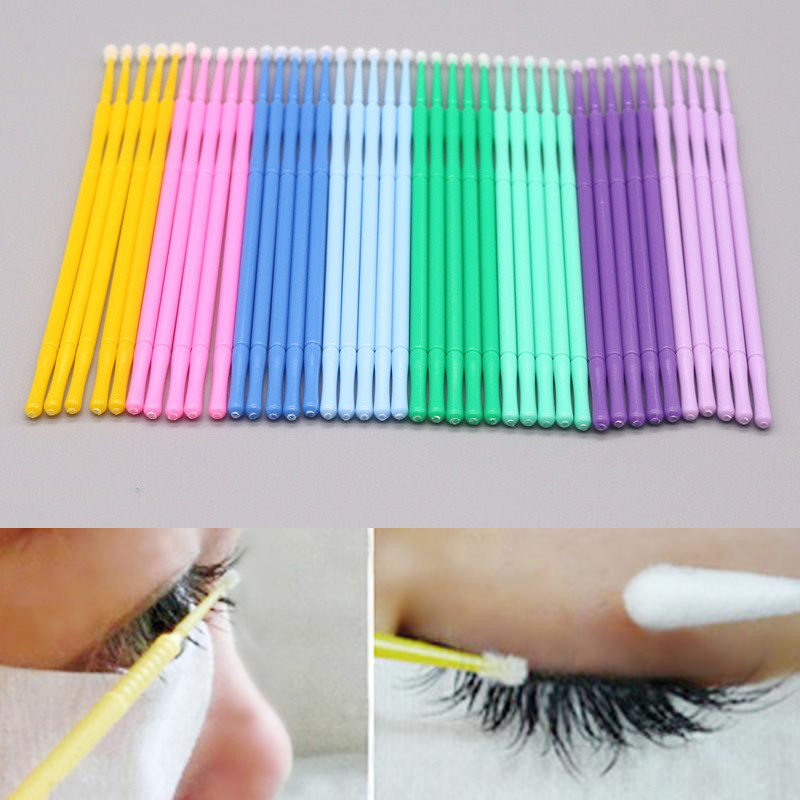 NEW Pro 100Pcs Disposable Eyelash Brush Cleaning Rod Eyebrow Eye Lip Pregnant Eyelash Swab Special For Tattoo Cotton Swab