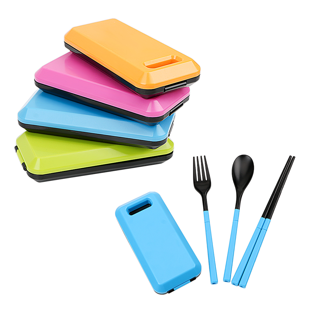 3 Pieces/set Portable Tableware Cutlery Set Fork Spoon