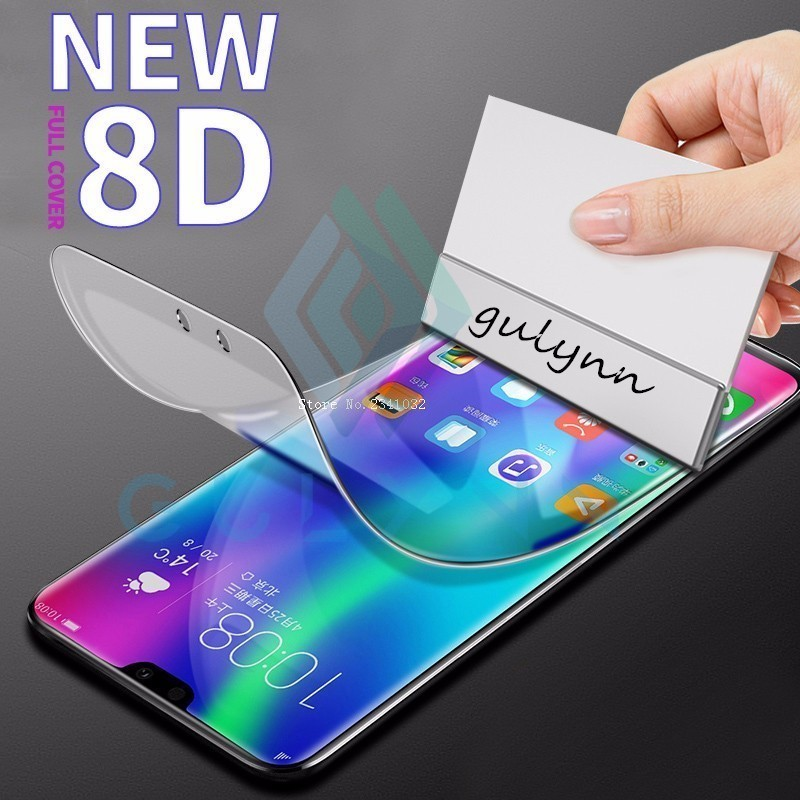 New 8D Full Protective Soft Hydrogel Film For Huawei P30 Lite Pro Screen Protector Honor Note 10 Play 8X 8C 9 Not Glass