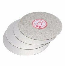 """4 шт./компл. алмазный шлифовальный диск 600 800 1200 3000 Грит """" плоский круг шлифовального круга притирки шлифовальные дисковый инструмент для полировки кругов"""