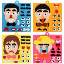 Забавный Набор для обучения детей, детские игрушки для самостоятельной сборки, головоломка для изменения эмоций, игрушки для детей, креативная игрушка с выражением лица
