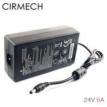 Cirmech ac 100 v 240 v conversor de adaptador de alimentação dc 24 v 5a fonte do adaptador de alimentação para amplificadores outros equipamentos
