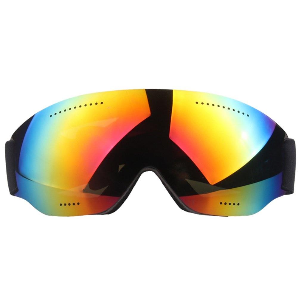 Single Layer Ski Glasses Large Spherical Cola Myopia Snow Mirror Goggles Windshield Adult Ski Goggles