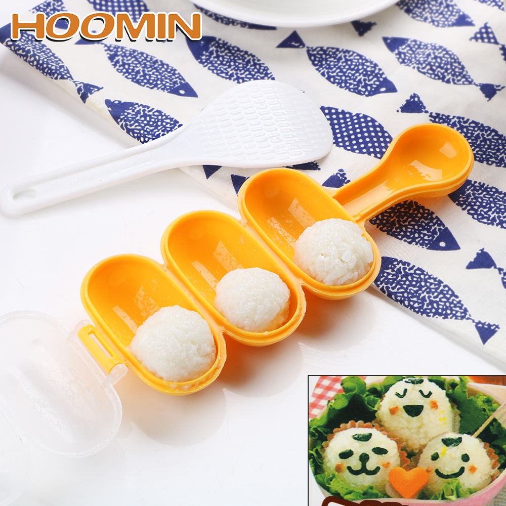 HOOMIN Sushi Making Tools Kitchen Bento Accessories Sushi Mold Japan Rice Mold Food Press Rice Ball Molds DIY Sushi Maker