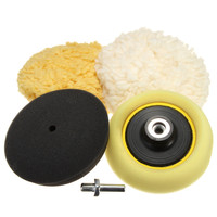 1 Set 3 Inch Buffing Pad Auto Car Polishing Wheel Kit + M14 Drill Top Quality