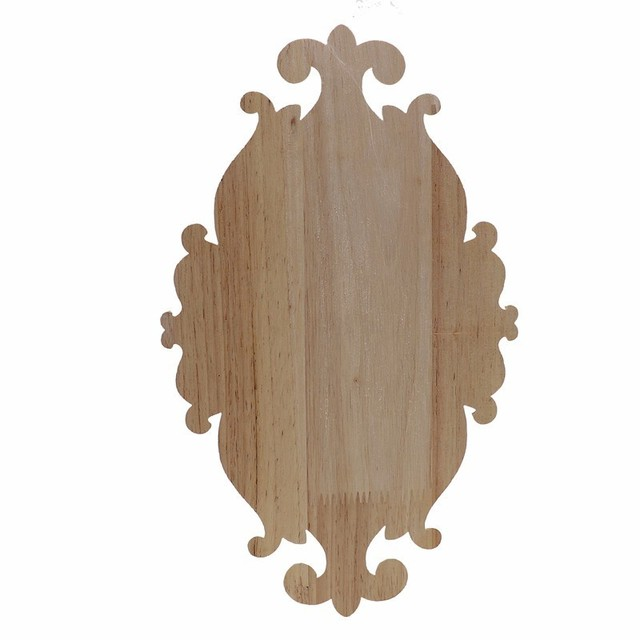 RUNBAZEF Solid Wood Furniture Decorative Accessories New Flower Carved Door Vintage Home Decor Figurines Miniatures Ornaments 6