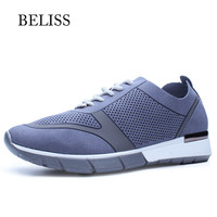 BELISS 2019 Sping Autumn Women Flats Loafers Lace Up Female Casual Shoes Breathable Moccasins Creepers Women Shoes Platform P21