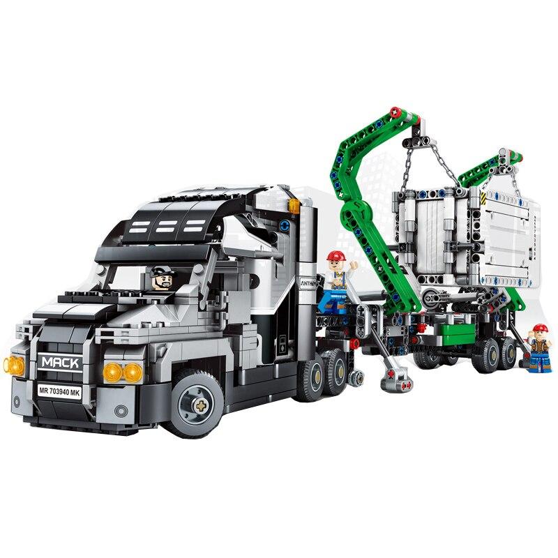 1202 pièces Technic série le camion Mack grand modèle de remorque blocs de construction compatibles legoing 42078 éducation jouets pour enfants-in Blocs from Jeux et loisirs    3
