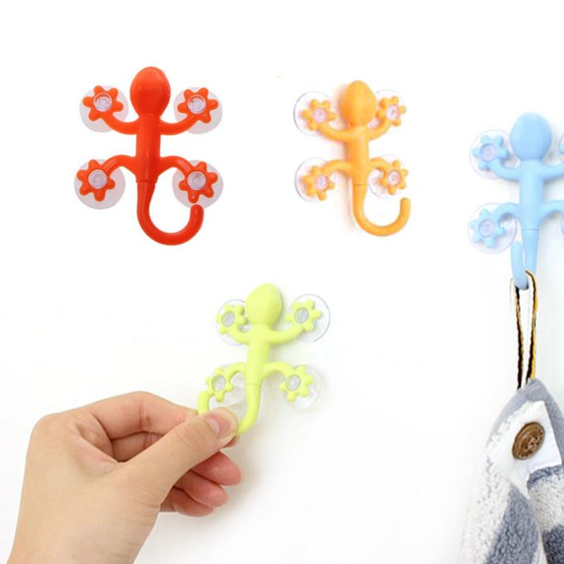 Gecko Hook Cartoon Hook With Suction Cup Key Towel Storage Rack Bathroom Porch Storage Rack Coat Organizer Household DecorationGecko Hook Cartoon Hook With Suction Cup Key Towel Storage Rack Bathroom Porch Storage Rack Coat Organizer Household Decoration