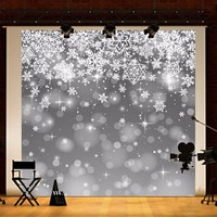 10x10FT Vinyl Winter Snow Flower Photography Backdrop Background Studio Prop for Christmas Photo Accessories