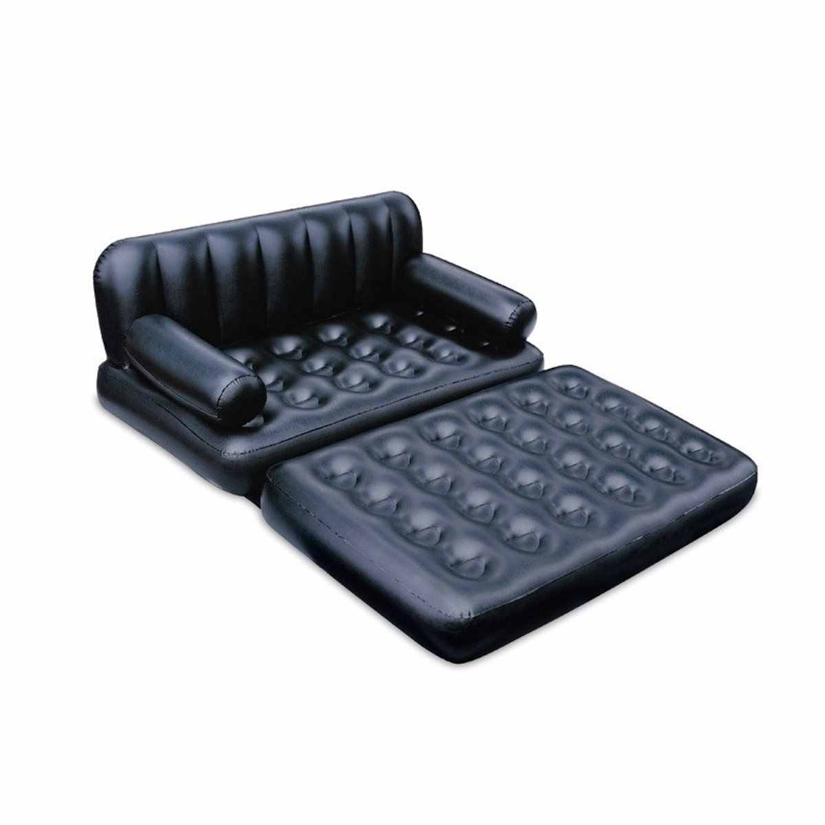 Black Inflatable Garden Sofa Lounge Blow Up Air Bed Multifunction Couch Camping Outdoor Furniture Mattress Airbed For 2 People
