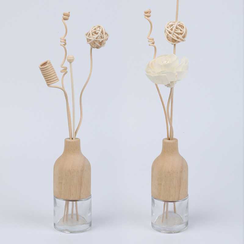 Lychee Life 5pcs Wavy Wooden Reed Diffuser No Fire Aroma Diffuser Sticks Home Fragrance Aromatherapy Cane Room Decoration