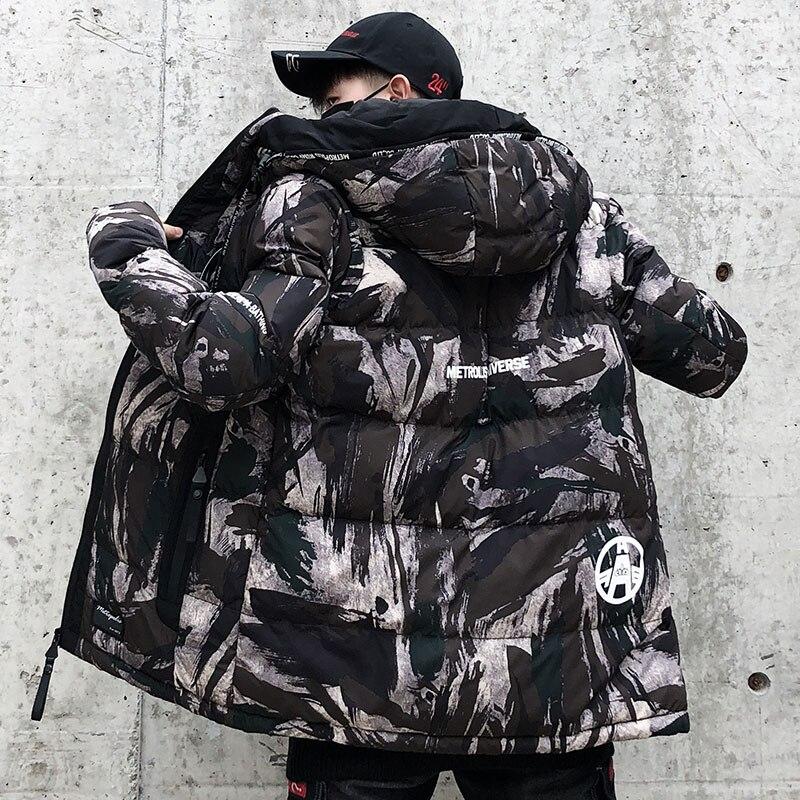 Chaud mode Camouflage hiver veste hommes à capuche décontracté hommes Parka manteau Camo militaire épais chaud hommes pardessus