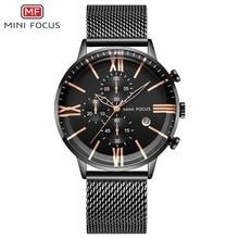 MINI FOCUS 3 Eyes Chronograph Watches Men Luxury Brand Sports Mens Quartz Watch Man Fashion Stainless Steel Auto Date
